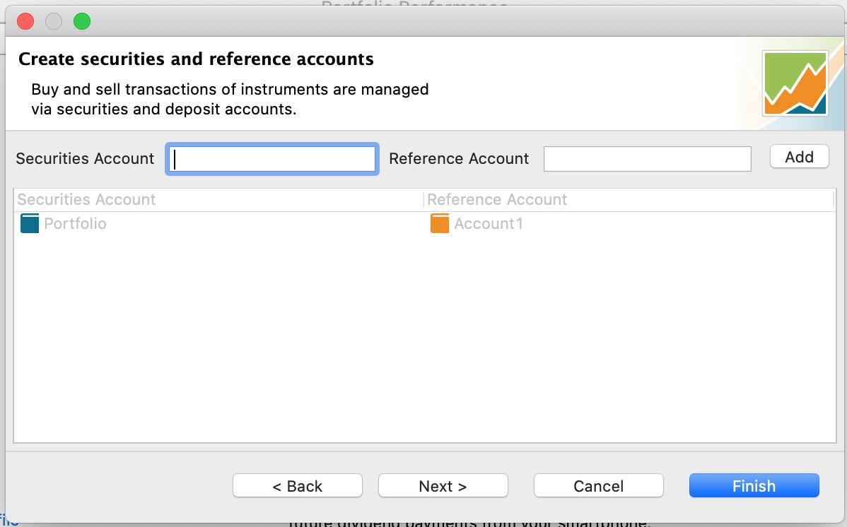 Adding accounts